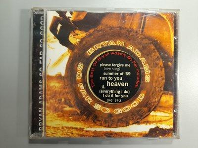CD/CA103/英文/BRYAN ADAMS布萊恩亞當斯/ SO FAR SO GOOD/非錄音帶卡帶非黑膠