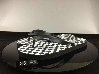 ☆LION販殼☆VANS Logo Slider Flip Flops 舒適 輕便 黑白 格子 拖鞋