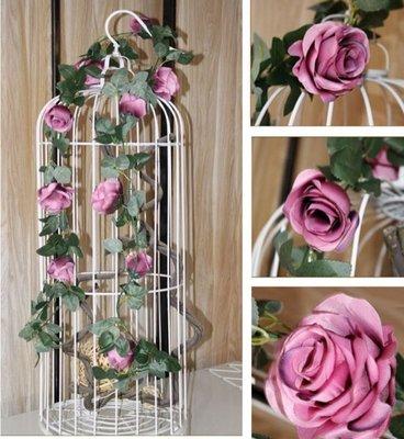 玫瑰花藤 仿真花 玫瑰花 大朵玫瑰花 玫瑰人造花 玫瑰花藤蔓 花藤蔓 仿真玫瑰