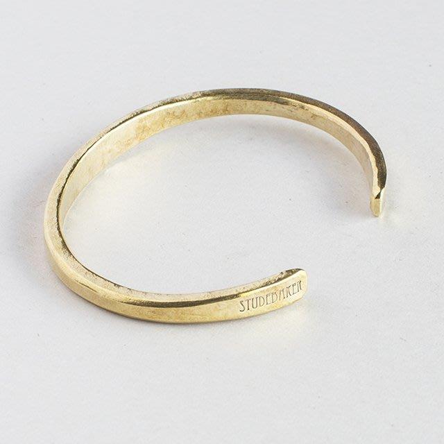 美國匹茲堡職人品牌Studebaker Metal純手工鍛造Workshop Cuff黃銅手環 - LTS現貨