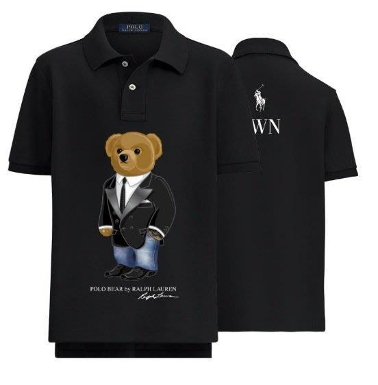 POLO Ralph Lauren 短袖 POLO衫 熊 青年款 黑 台灣特別版