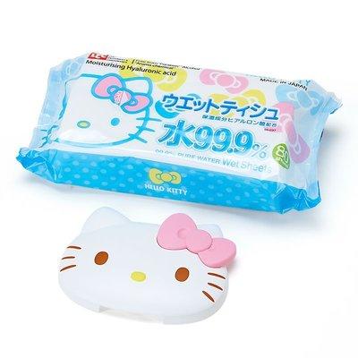 ❃小太陽的微笑❃日本製 kitty 可重複使用 濕紙巾 卸妝棉 專用蓋 黏貼蓋 附濕紙巾 嘉義市