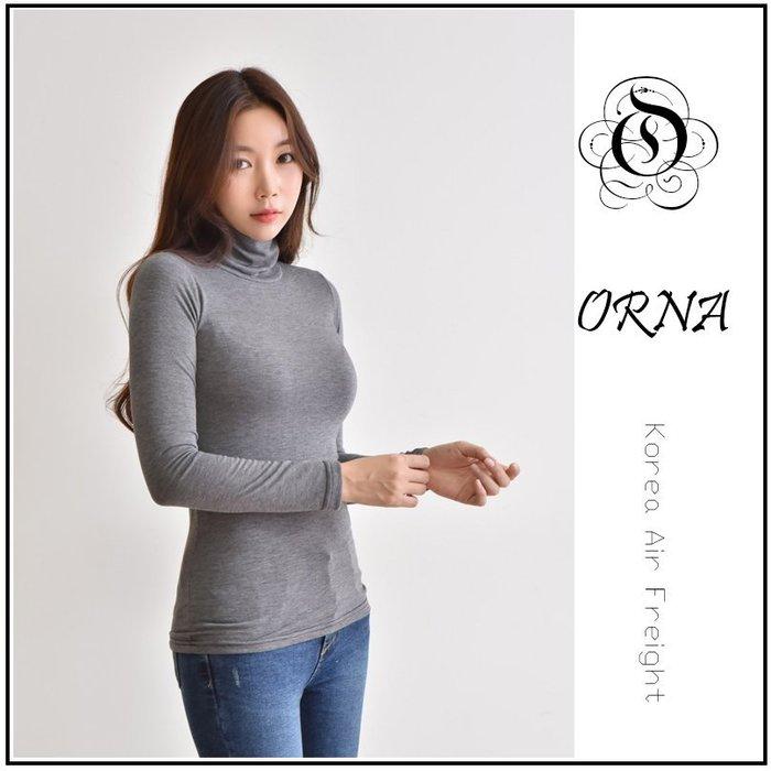 【Original‧爾瑞菈現貨】 - 韓國製 韓國空運 基本款內搭素色柔棉高領T恤