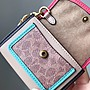 【Woodbury Outlet Coach 旗艦館】COACH 89409 女士鑰匙卡包 零錢包 美國代購100%正品