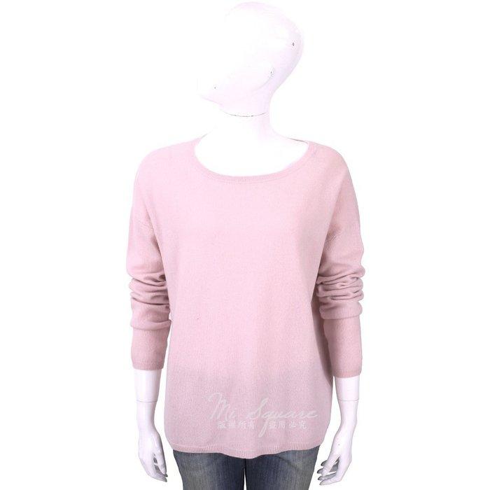 米蘭廣場 ALLUDE 100%喀什米爾淺粉純色落肩針織羊毛衫 1740220-05