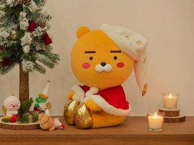 現貨 KAKAO FRIENDS 2019耶誕限量 RYAN會唱歌54cm大娃娃+3隻小仙子磁鐵娃娃