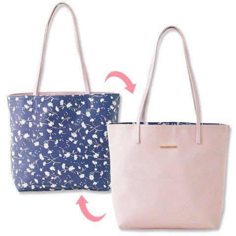☆Juicy☆日本雜誌附錄 JILL STUART 粉色 花朵 雙面 托特包 單肩包 手提包 肩背包 手拎包 7030