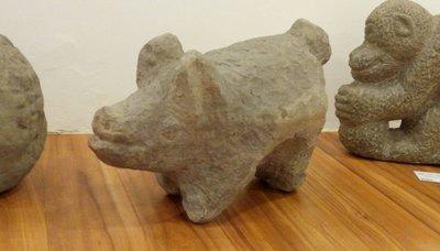 林淵 石雕 諸事順利 48X32X20cm (朱銘、楊英風、李真、木雕、銅雕、裝置藝術、投資、台灣、素人、童趣)