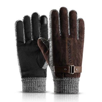 保暖手套 觸控手套(1雙)-內裡加絨防風防寒男手套2色73pp637[獨家進口][米蘭精品]