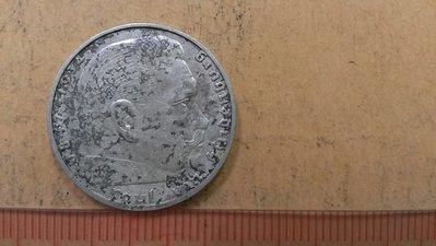 O8--1938德國2馬克銀幣