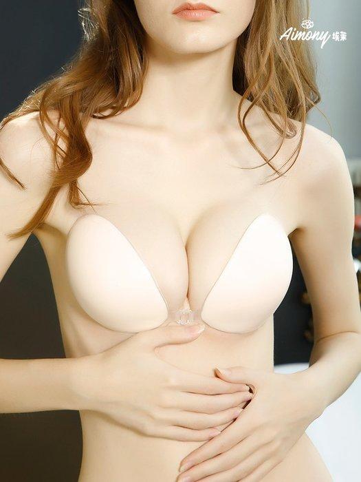 爆款--胸貼婚紗聚攏加厚防滑上托小胸硅膠無肩帶內衣隱形文胸超薄款乳貼#內衣褲#套裝#舒適#無痕