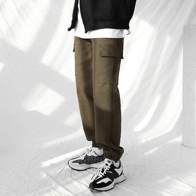 正韓男裝 抽繩工作內刷絨束口工作褲 / 3色 / HNT6006 KOREALINE 搖滾星球