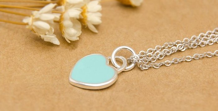 ~~MIRO泰銀純銀材料 ~~國際標凖925純銀串珠材料 愛心銀牌 藍 ~蠟線手鍊項鍊