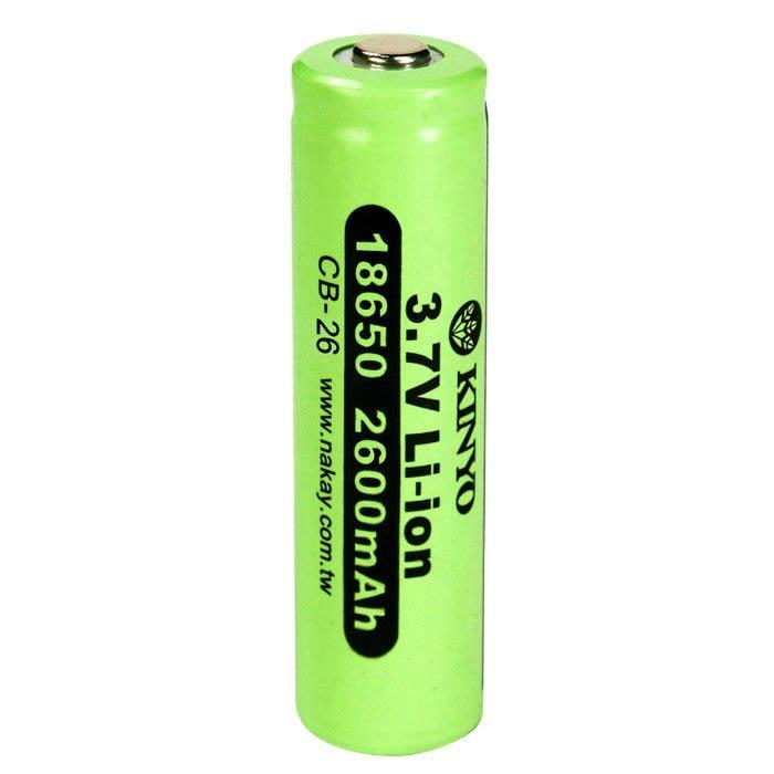 【須訂購】18650鋰電池2600mAh CB-26 用於LED手電筒、頭燈或各類18650鋰電池產品
