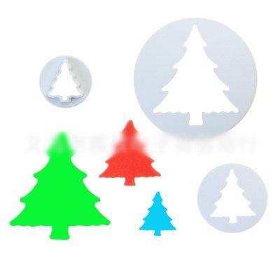 聖誕 樹 3pcs 翻糖 花 壓模 切...