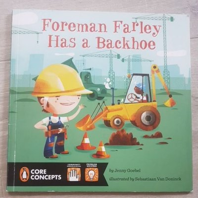 5折 二手童書 Foreman Farley Has a Backhoe 平裝繪本 英文繪本 發音 phonics