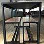 【新精品】#好實在 A13工業風木心板+鐵腳餐桌 (不含長凳與其他商品) 高雄-台北 搭配車趟免運費專車配送免組裝費