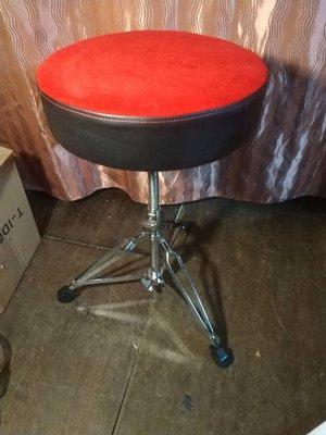 爵士鼓椅,高65公分,螺旋桿選高低,大椅墊
