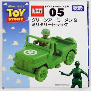 4165本通 板橋店 多美汽車 迪士尼 TAKARA TOMY 玩具總動員 綠色小士兵&軍事車