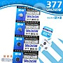 【鐘錶通】《四送一》maxell 日本製 377 SR626SW / 手錶電池 / 鈕扣電池 / 水銀電池 / 單顆售