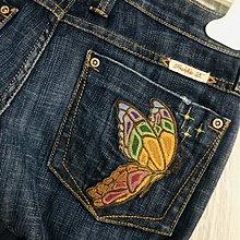 Made in U.S.A. Frank.b 口袋刺繡牛仔褲
