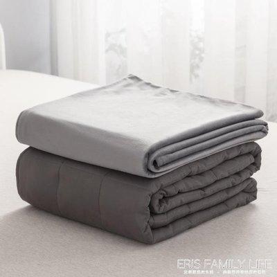 出口歐美減壓助眠重力毯全棉純棉絨被套重力被子weighted blanket-水水時尚