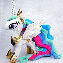 美學0我的小馬彩虹毛絨小馬公仔寶莉玩偶宇宙公主布娃娃 做工精細 立體刺❖91155