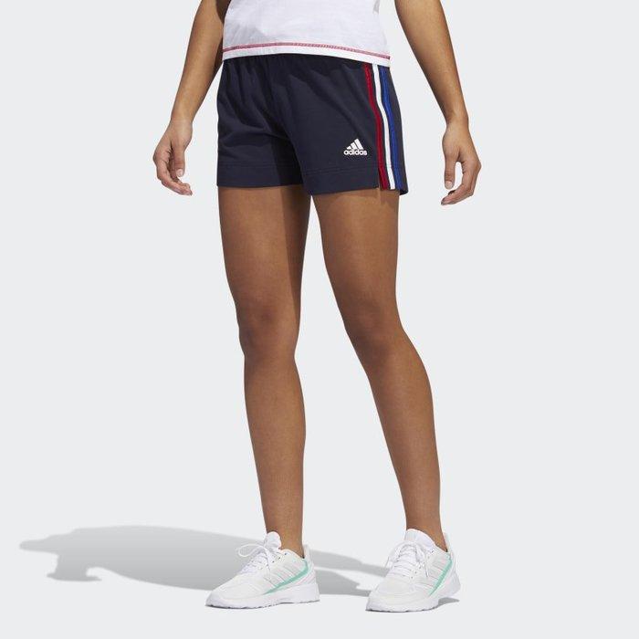 南 2020 6月 Adidas  AMERICANA SHORTS GK3633 深藍 美國配色 運動休閒短褲 女款