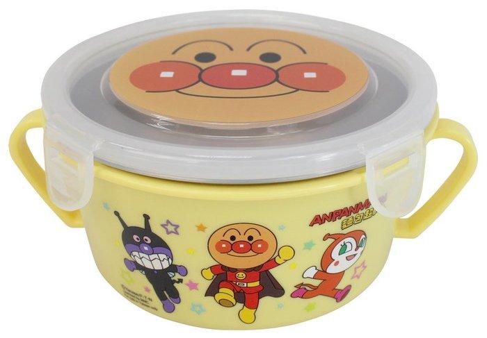 麵包超人不鏽鋼雙耳隔熱餐碗/幼兒學習隔熱餐碗/304不鏽鋼雙層兒童學習碗/幼稚園餐碗