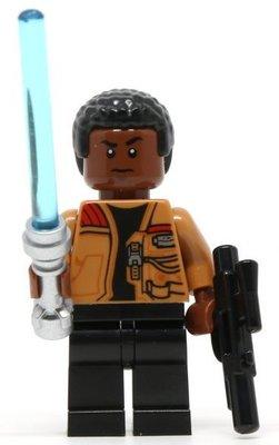 【LEGO 樂高】全新正品 益智玩具 積木/ Star Wars 星際大戰 75139 | 單一人偶: 芬+藍色光劍+槍