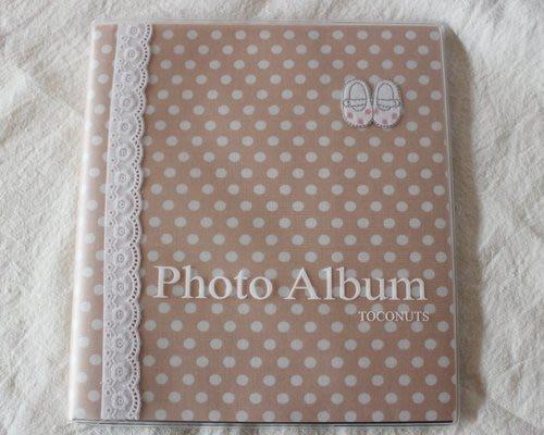 《散步生活雜貨-文具散步》日本製 TOCONUTS 粉紅水玉點點 薄型 相本 相簿 (收納80張) PAB-SP/B