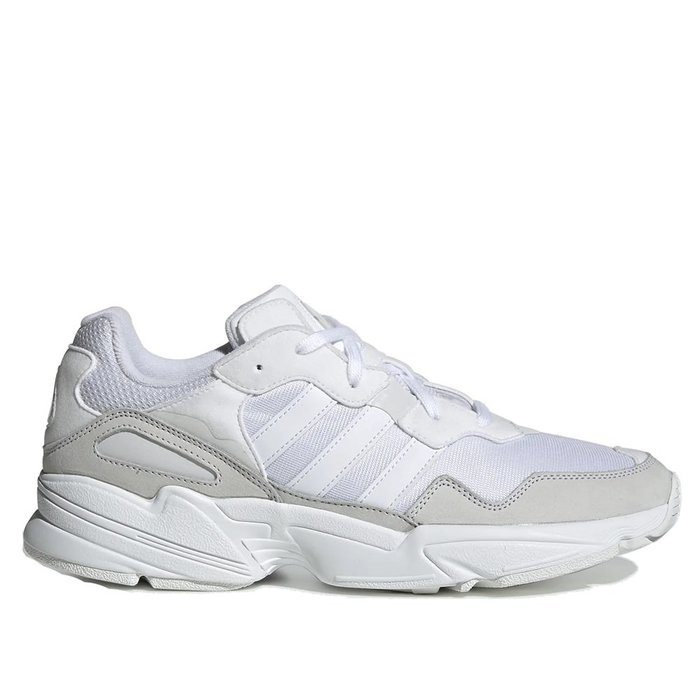 【A-KAY0 5折】ADIDAS YUNG-96 WHITE GREY 皮革X網布 白灰【EE3682】
