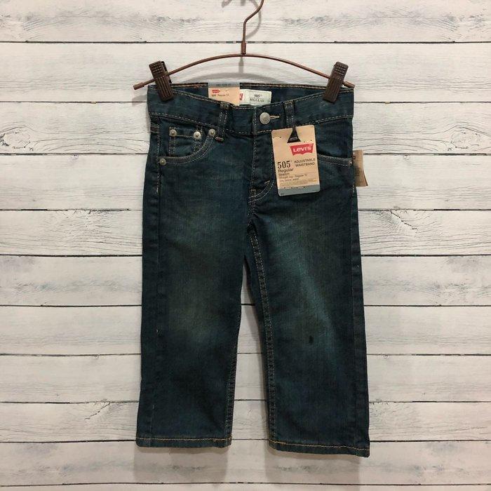 Maple麋鹿小舖 美國購買 童裝品牌 LEVI'S  男童深色牛仔長褲 * ( 現貨2T )