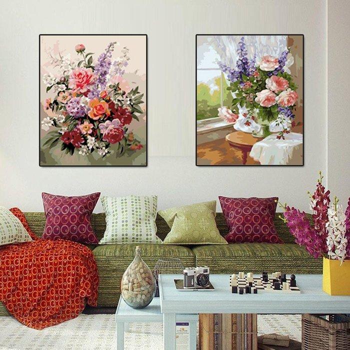數字油畫手繪畫北歐風景向日葵花卉卡通diy裝飾畫  衣品居 YPJ