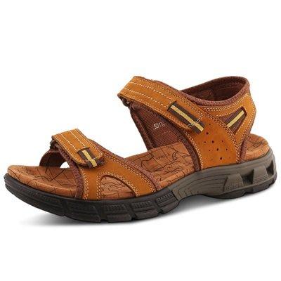 涼 鞋 真皮拖鞋-透氣休閒防滑耐磨男鞋子3色73sa16[獨家進口][米蘭精品]
