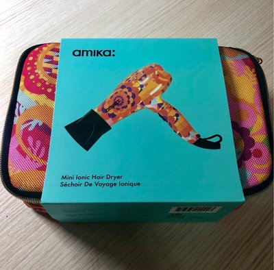 全新美國版 Amika Mini Ionic Hair Dryer Obliphica 迷你風筒 旅行風筒