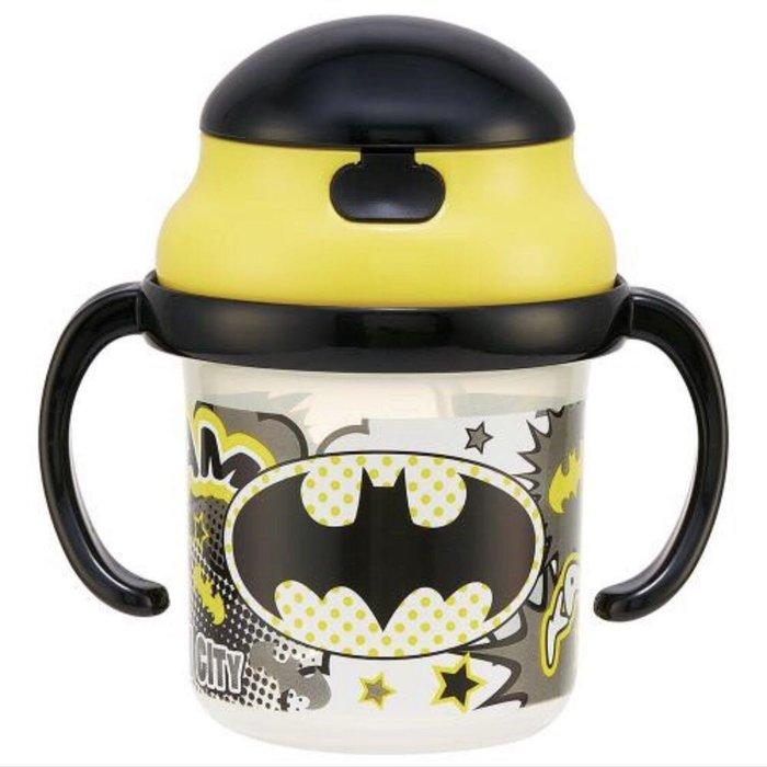 【萱萱婦幼館】日本 蝙蝠俠 雙耳 彈跳 吸管杯 學習杯 兒童水杯