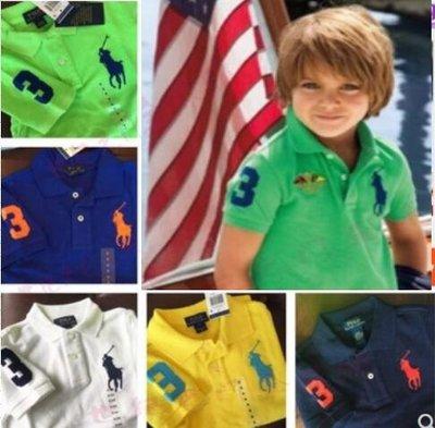 美國Polo Ralph Lauren男童裝夏季短袖Polo兒童T恤 大馬標舒適短袖T女童