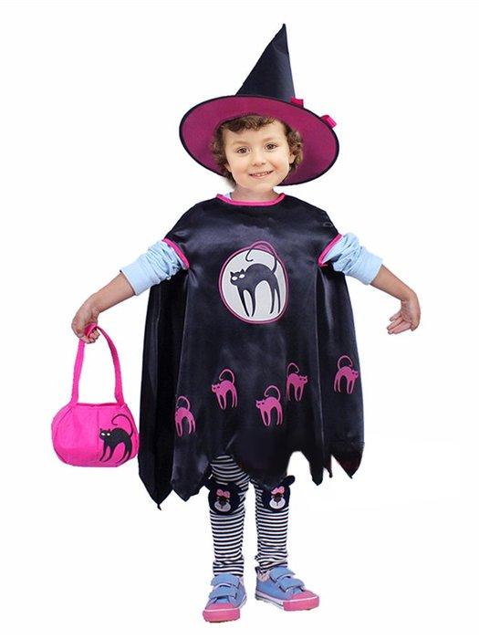 【洋洋小品貓咪魔法裝+巫婆魔法帽+糖果提袋】兒童萬聖節造型服裝服裝舞會表演頭飾帽裝扮服裝道具巫婆裝南瓜糖果提袋服南瓜桶