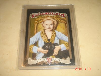 Actress  Carole Lombard  2012 UD Goodwin Champions #69 球員卡