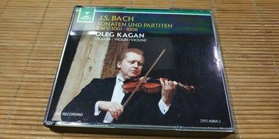 好音悅 Oleg Kagan Bach 巴赫 巴哈 無伴奏小提琴 奏鳴曲 組曲 2CD Erato 德版 無IFPI