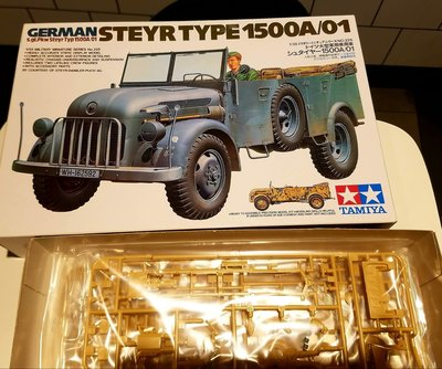 Tamiya-田宮-1/35- 35 255-WWII German -Steyr - Type 1500A--staff car-M-077