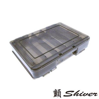 ~顫Shiver~排汗王~X-MAX-收納盒-雙面路亞盒12格-14*10.5*3.5-黑~釣魚~工具~配件~
