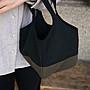 【嬤包】手作小提袋/便當袋-黑色墨綠 內裏防水布升級版
