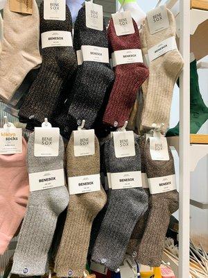 BENE SOX韓國代購東大門閃閃銀絲銀蔥羊毛保暖加厚秋冬堆堆女襪子 台北市