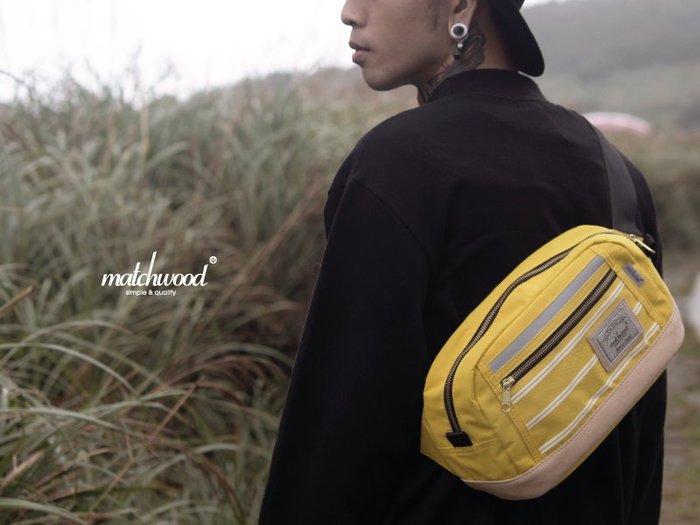 { POISON } MATCHWOOD DENSITY 3M反光條特別款 腰包 側背包 斜背包 胸前包 黃