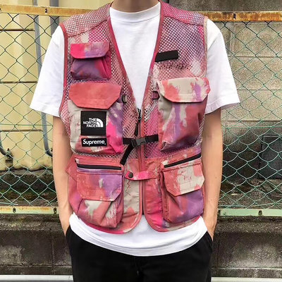美國戶外品牌The North Face X Supreme北臉Cargo Vest多口袋背心 日本限定