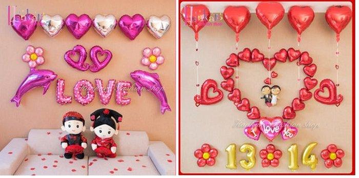 ☆[Hankaro]☆ 歐美派對裝飾用品浪漫求婚婚禮造型鋁膜氣球套裝組C