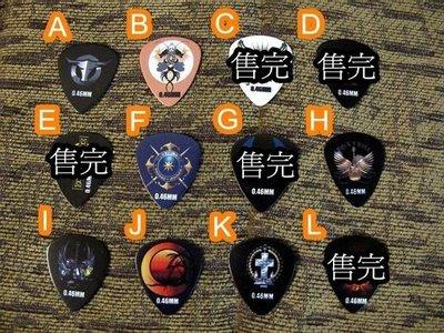 ☆ 唐尼樂器︵☆全新款 Rock Pick 彩繪系列木吉他 PICK 彈片(適合 Martin/ Taylor/ Gibson 等)
