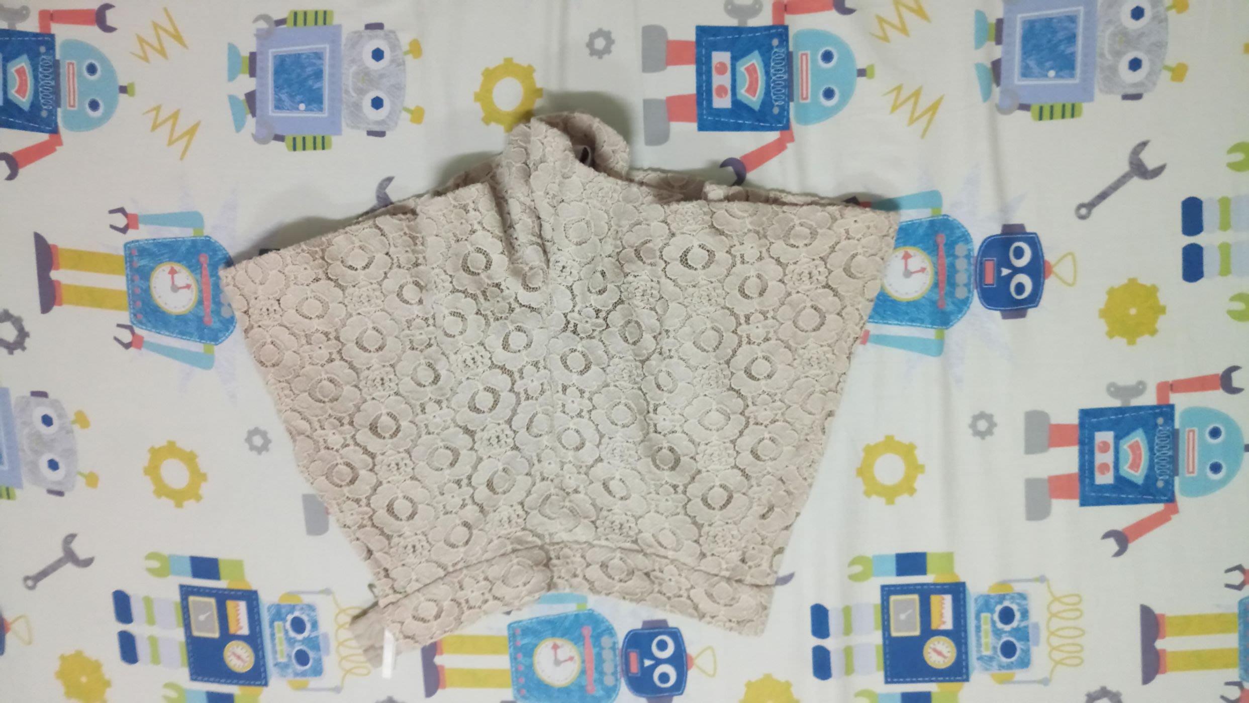 susu高單價日本品牌米白色古董蕾絲褲裙